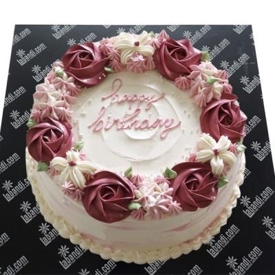 Round Rose Cake