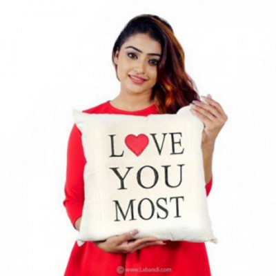 Love U the Most Pillow -...