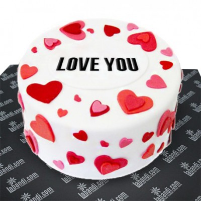 Love you Chocolate Round Cake