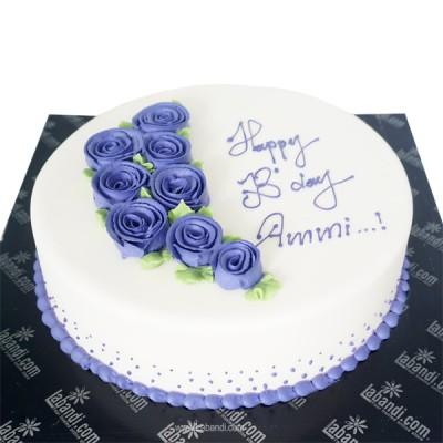 Purple Rose Cake - 2.2lbs