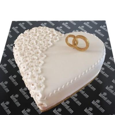 Pure Love of heart Cake