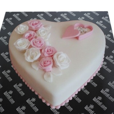Just Engaged Heart Cake