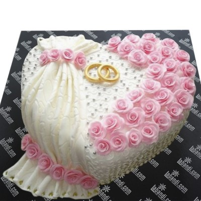 Yes I will Heart Cake