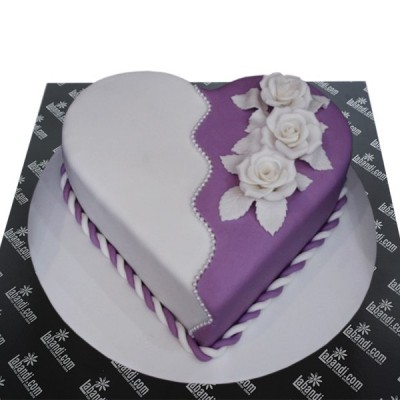 Romantic Purple white Heart...
