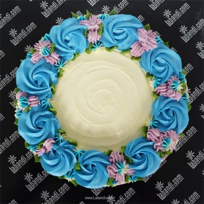 Sky Blue creamy Lovers Cake