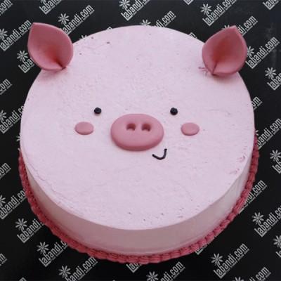 Peppa Pig Face Cake