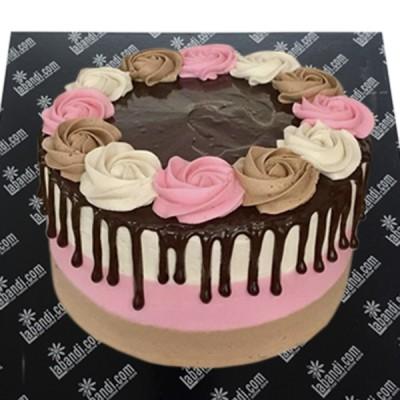 Round Floral Love Cake