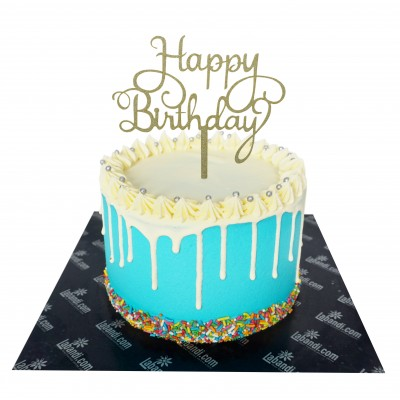 Happiness of day Ribbon Cake