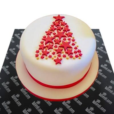 Red Star Christmas Cake