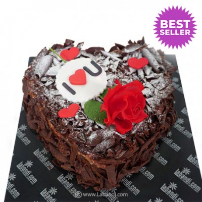 Chocolate Heart Forest Cake