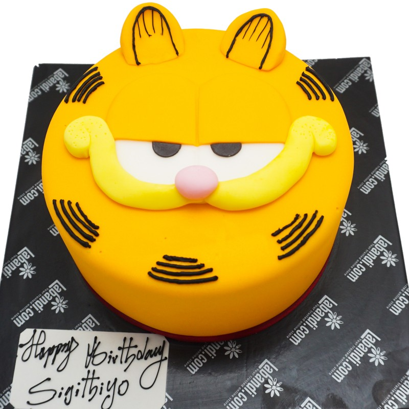 Groovy Garfield Cake Garfield Cake Personalised Birthday Cards Veneteletsinfo