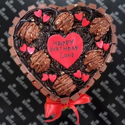 Heart OF Choco Cake