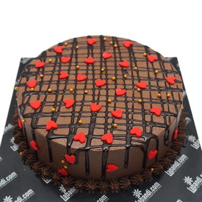 Checkerboard Heart Cake