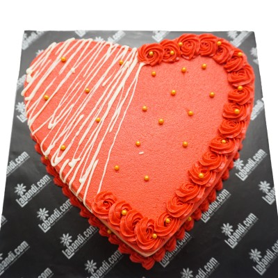 Shape Of Love Cake