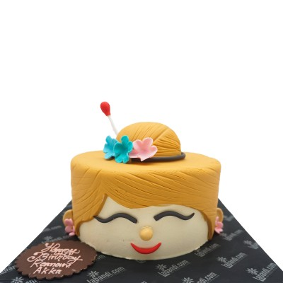 Her Cute Smile Cake