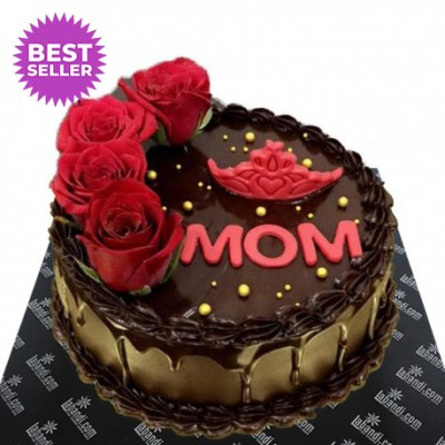 Mom's Red Crown Cake