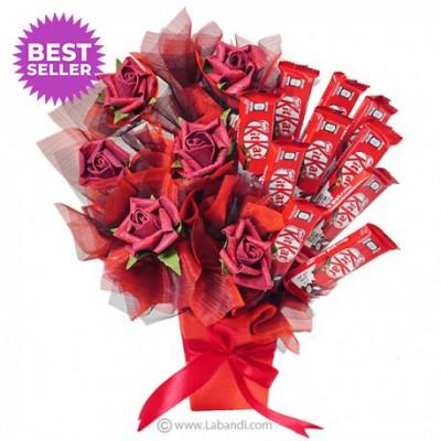 KitKat with Silk Roses Vase