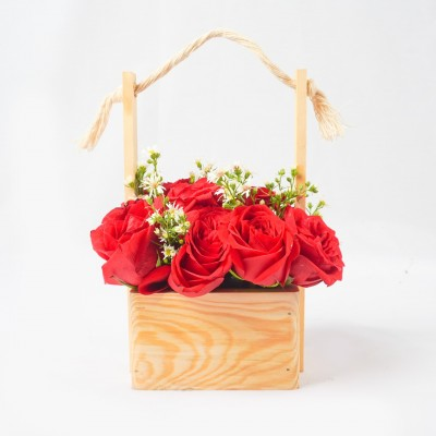 Hanging Rose Basket -...