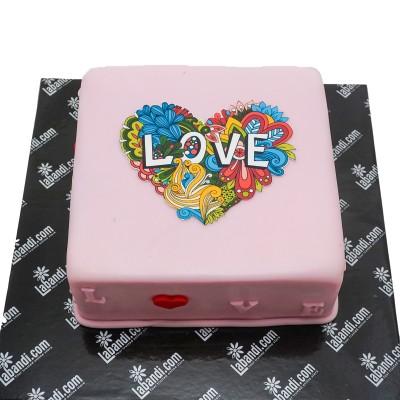Art Heart Cake