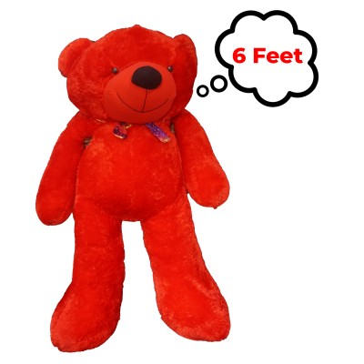 Life Size Teddy Bear - RED