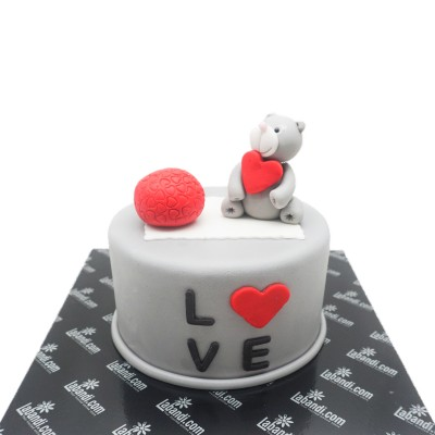 Our Cute Love Story Cake