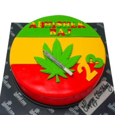 Weed Themed Cake - 1 Kg