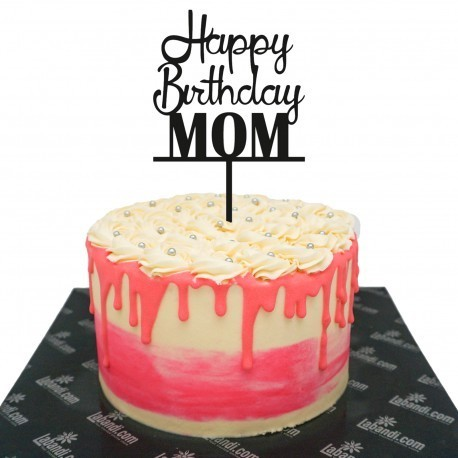Magnificent Happy Birthday Mom Ribbon Cake Happy Birthday Mom Ribbon Cake Personalised Birthday Cards Paralily Jamesorg