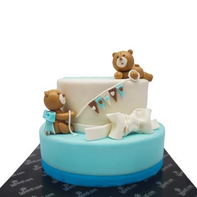 Playing Teddies  Cake