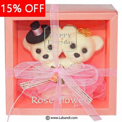 Teddy Couple - PINK Ornament