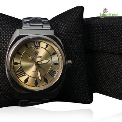 Rolex® Silver (Gold Dial) -...