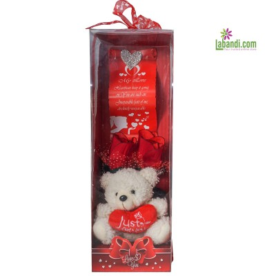 Bear-In-A-Box and Red Roses...