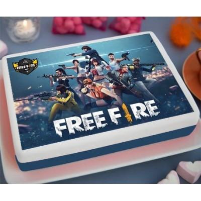 Free Fire Printed Cake (2Kg)