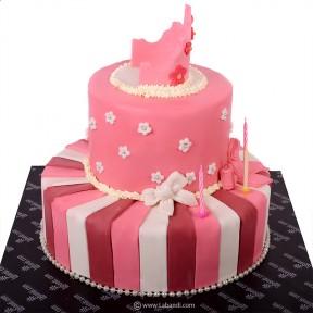 Princess Two Tiered Cake -...
