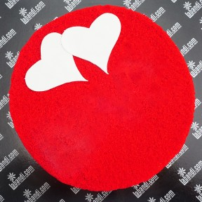 Red Velvet with Double Hearts