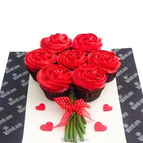 Red Rose Cupcakes - 7pcs
