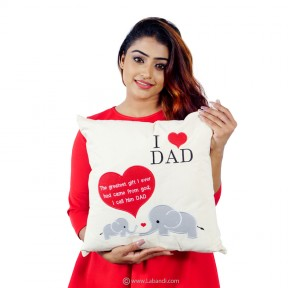 "I Love Dad Pillow - 18""x18"""