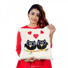 Owl Love Couple Pillow -...