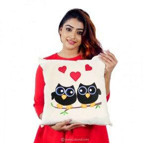 Owl Love Couple Pillow -...