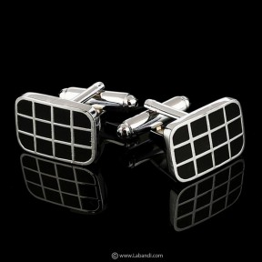 Enamel Cufflinks - Black &...