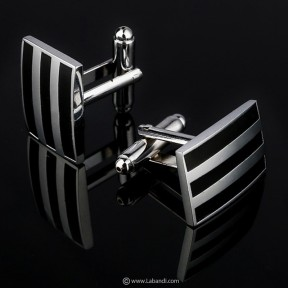 Silver Plated Black Stripe...